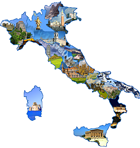 Travel Map Your Tour in Italy
